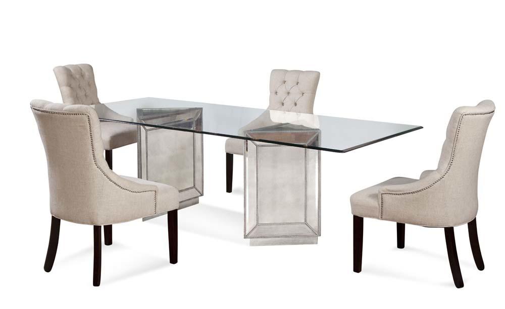 Bassett Mirror Company - Fortnum Tufted Nailhead Parson Side Chair