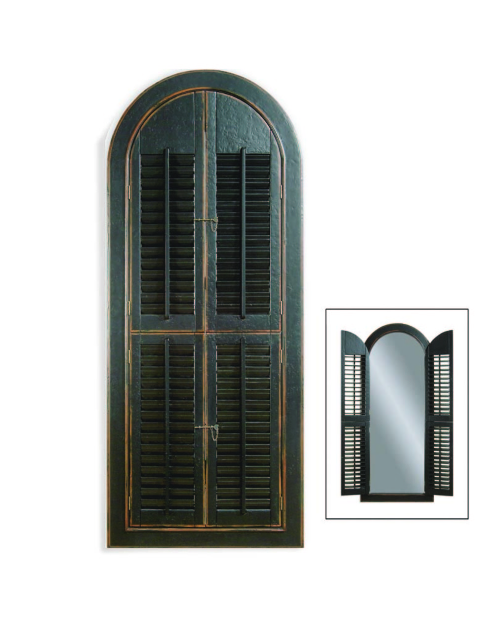 Bassett Mirror Company - Arched Shutter Mirror