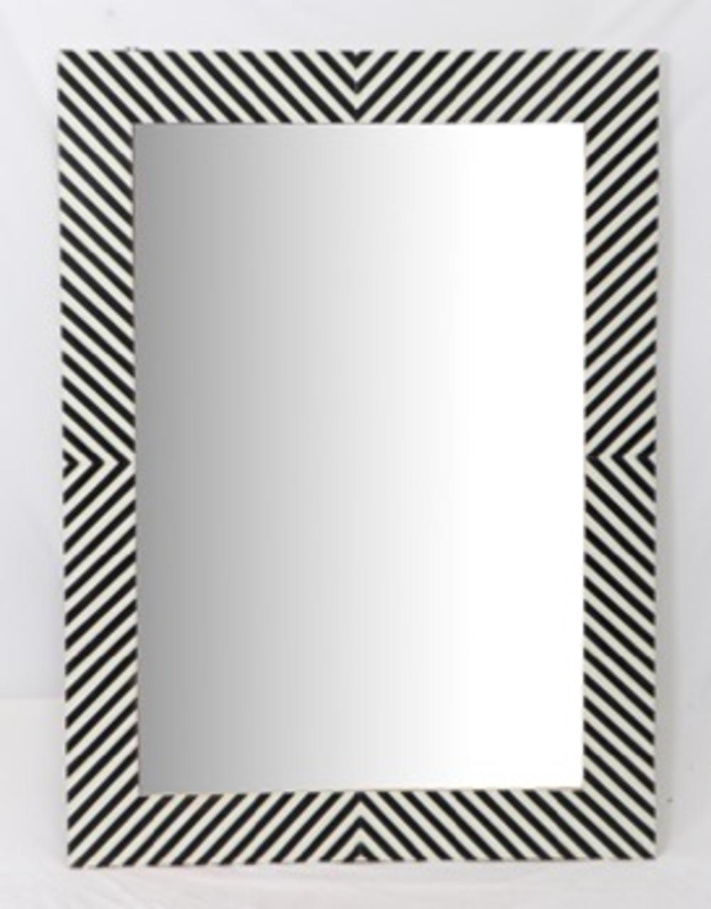Bassett Mirror Company - Chevron Bone Wall Mirror