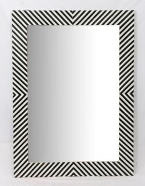 Thumbnail of Bassett Mirror Company - Chevron Bone Wall Mirror