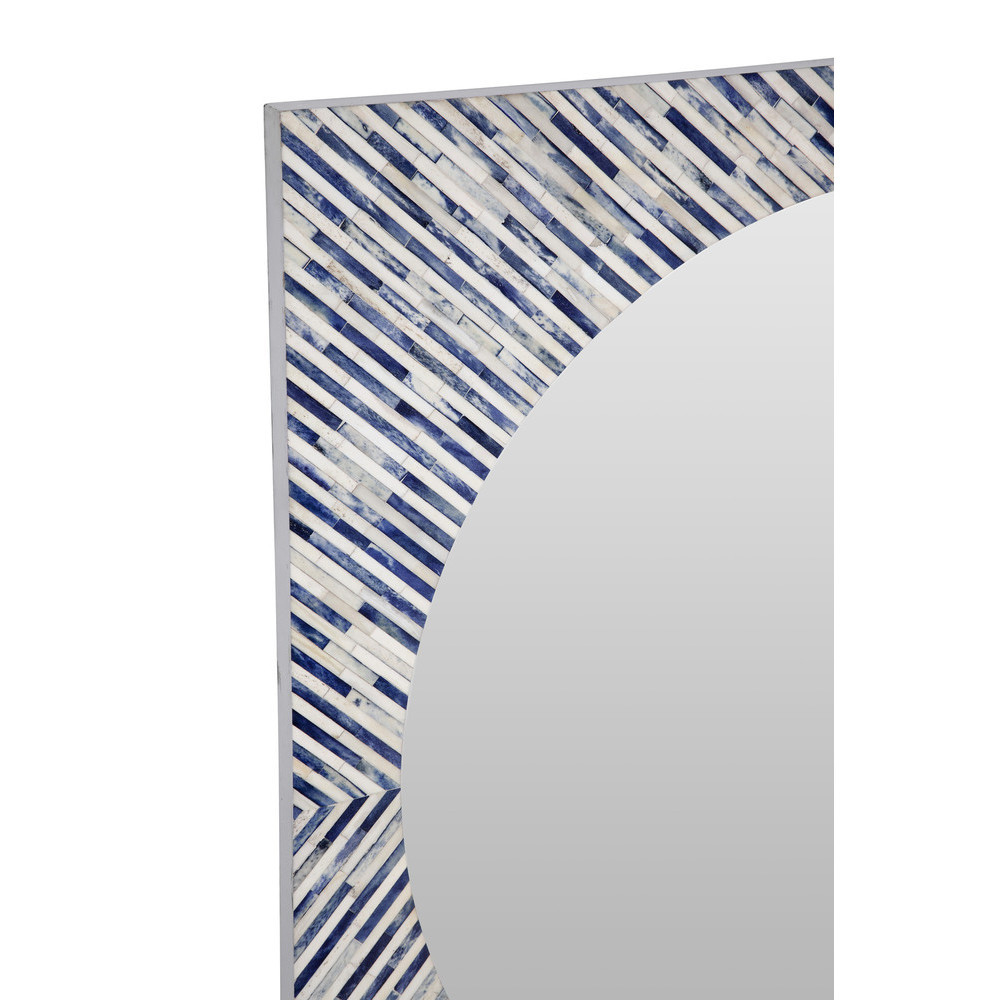 Bassett Mirror Company - Sunburst Bone Wall Mirror