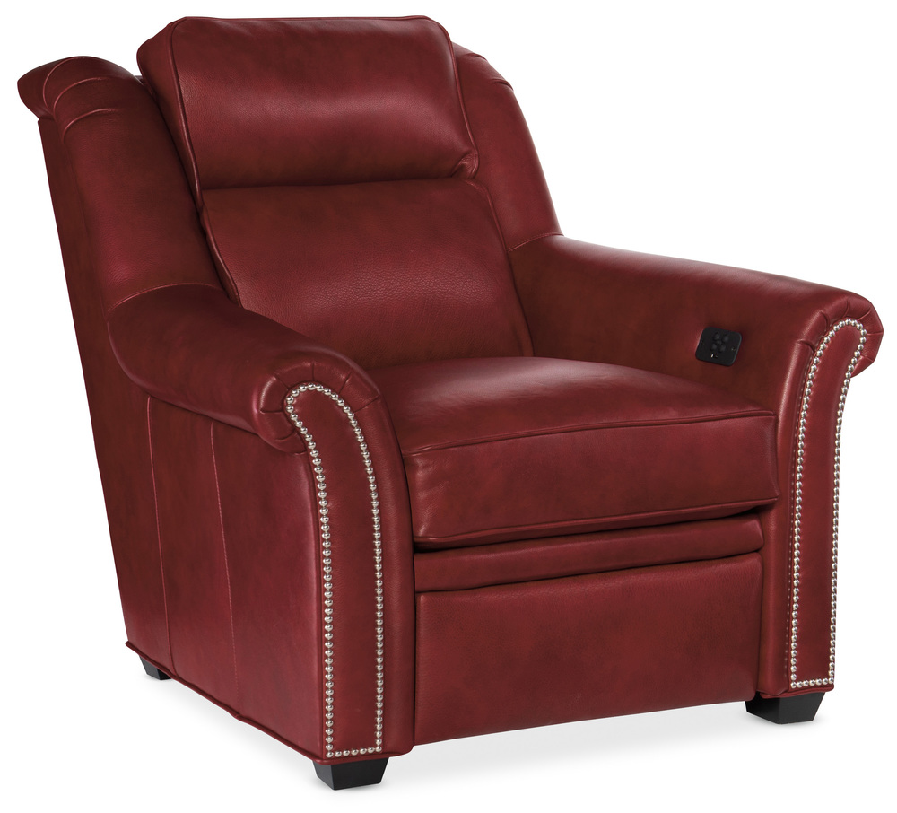 Bradington Young - Robinson Motion Recliner with Power Headrest, Two Piece Back
