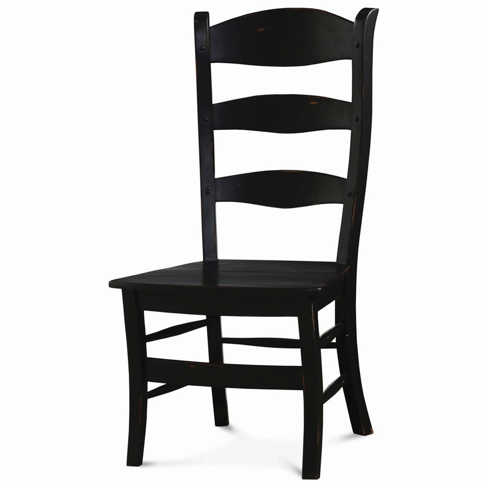 Bramble Company - Peg and Dowel Ladderback Chair with Wooden Seat