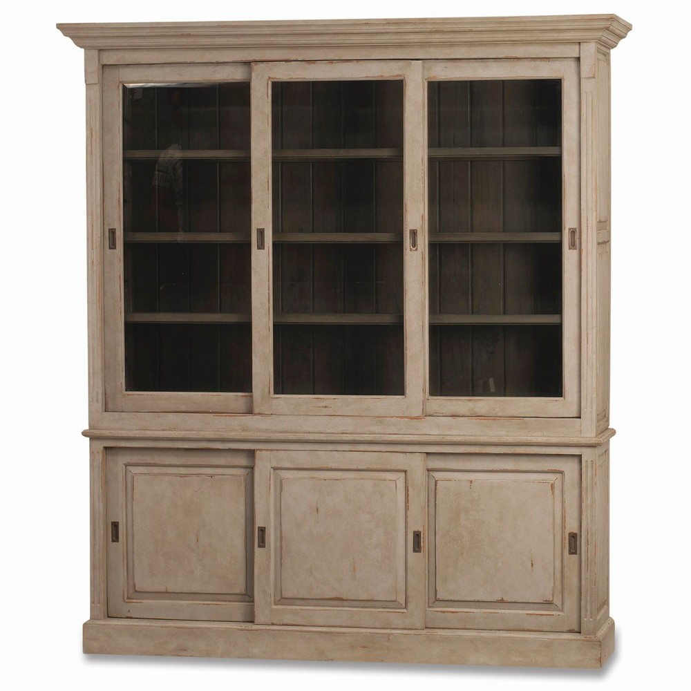 Bramble Company - Hudson Bookcase w/ Three Sliding Doors