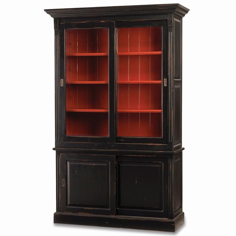 Bramble Company - Hudson Bookcase w/ Two Sliding Doors