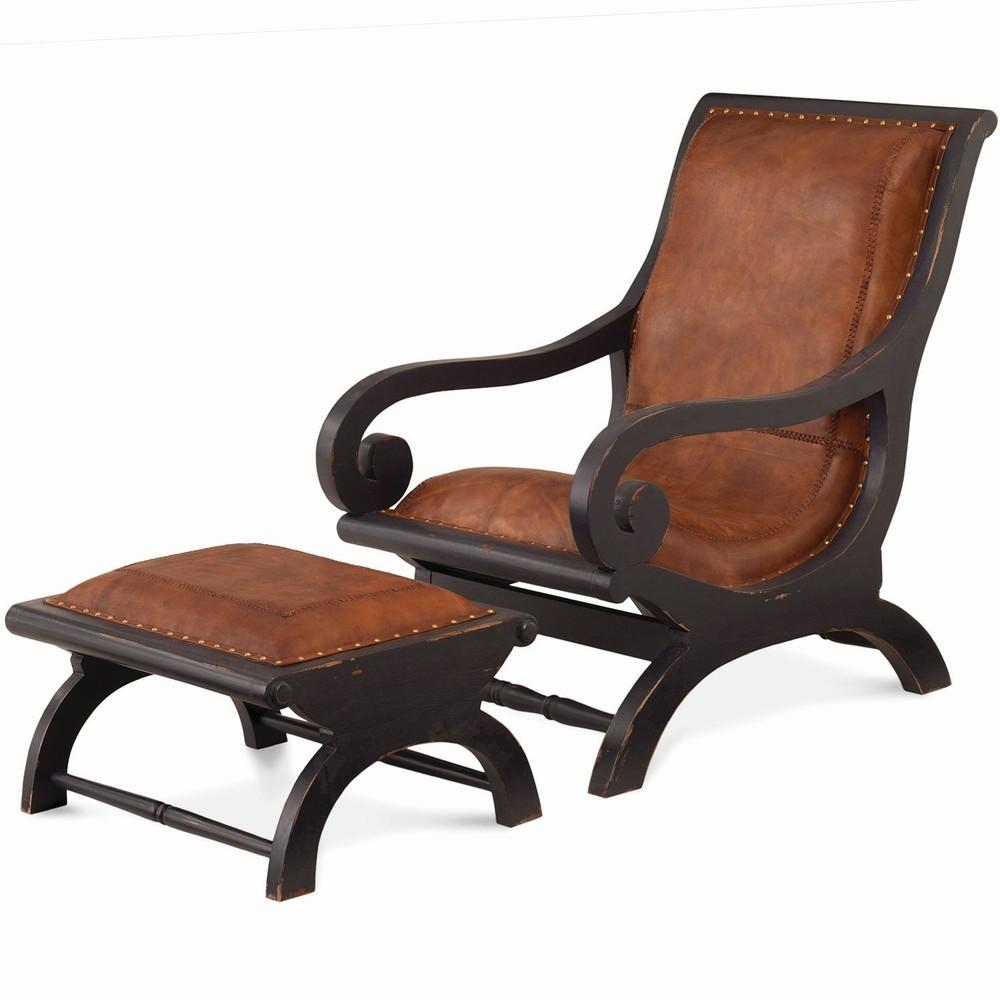 Bramble Company - Lazy Chair w/ Footstool Set