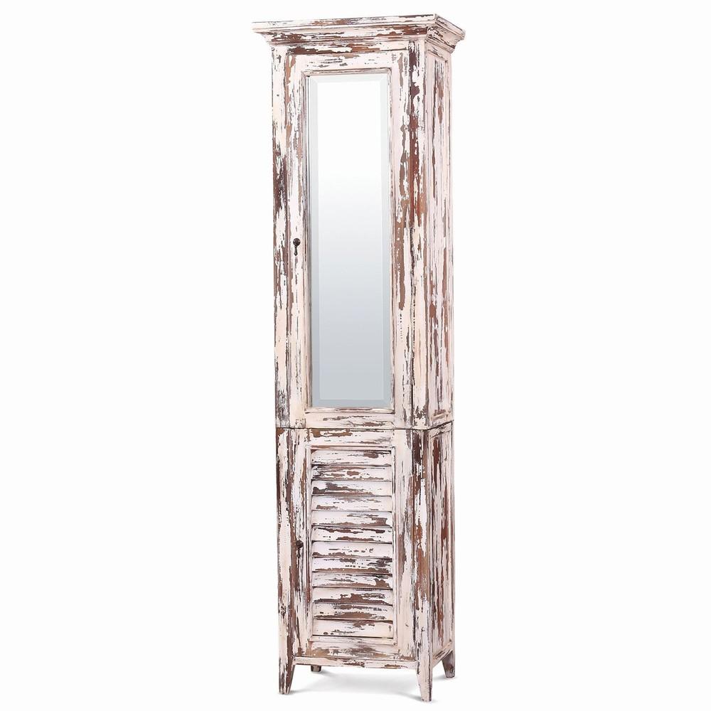 Bramble Company - Shutter Tall Bath Cabinet w/ Mirrored Front