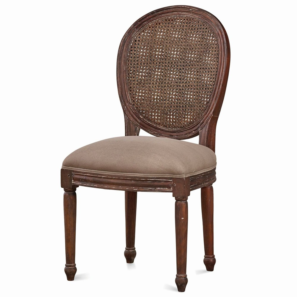 Bramble Company - Tulip Rattan Back Dining Chair w/out Fluted Leg