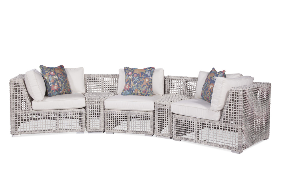 Hyde Park 5 Piece Curved Outdoor, Hyde Park Outdoor Furniture