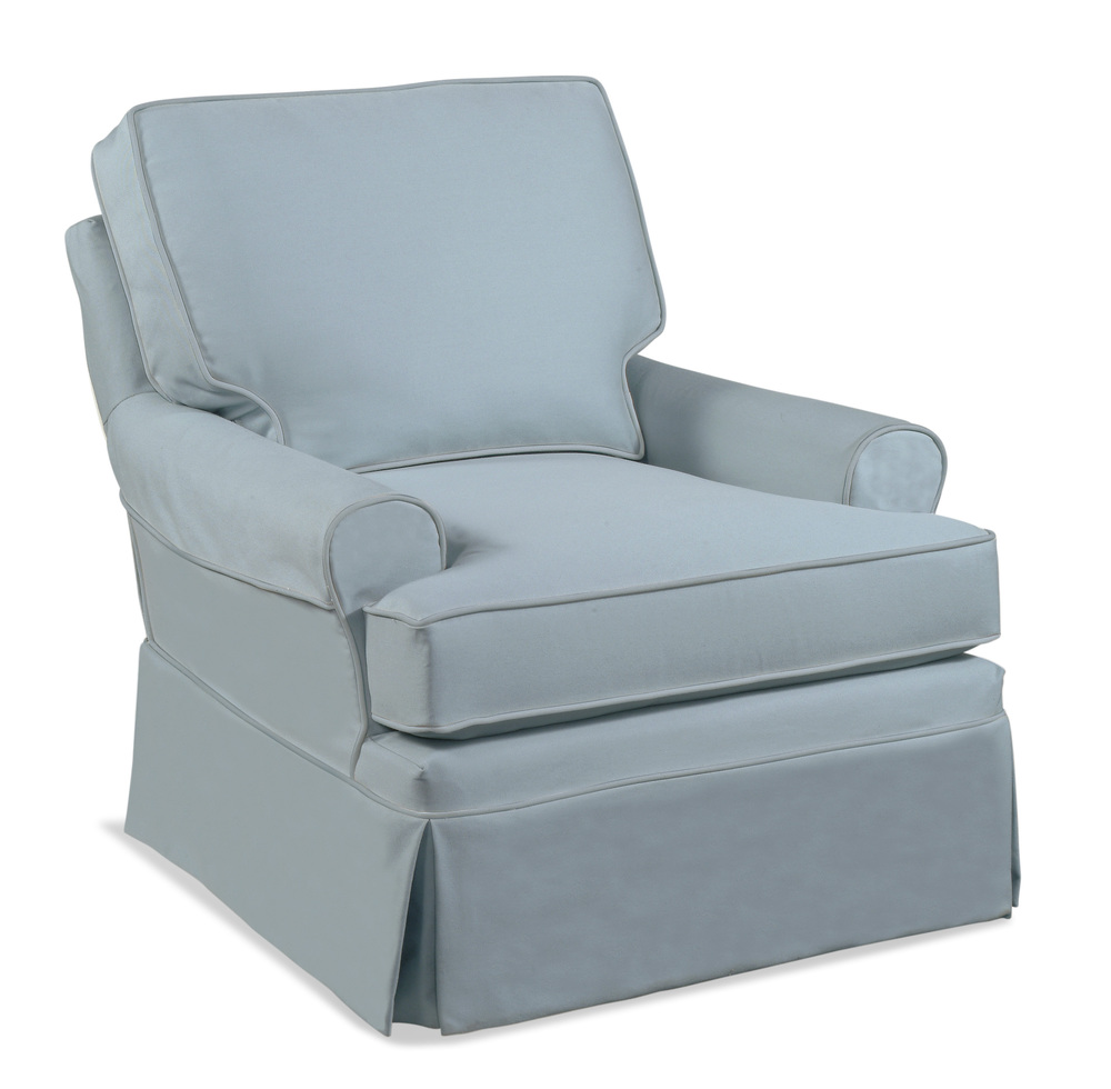 Braxton Culler - Belmont Swivel Glider with Slipcover