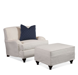 Thumbnail of Braxton Culler - Crown Estate Chair and Ottoman with Slipcover