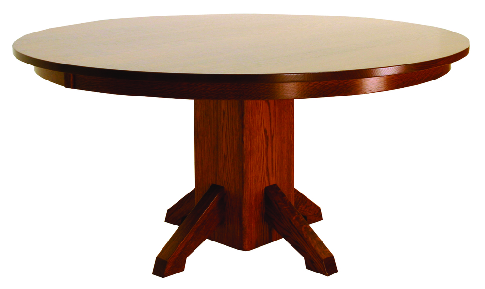 Canal Dover - Mission Single Pedestal Table with Solid Top