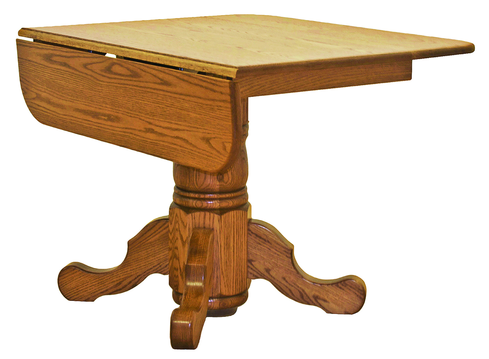 Canal Dover - Drop Leaf Single Pedestal Table w/ Solid Top