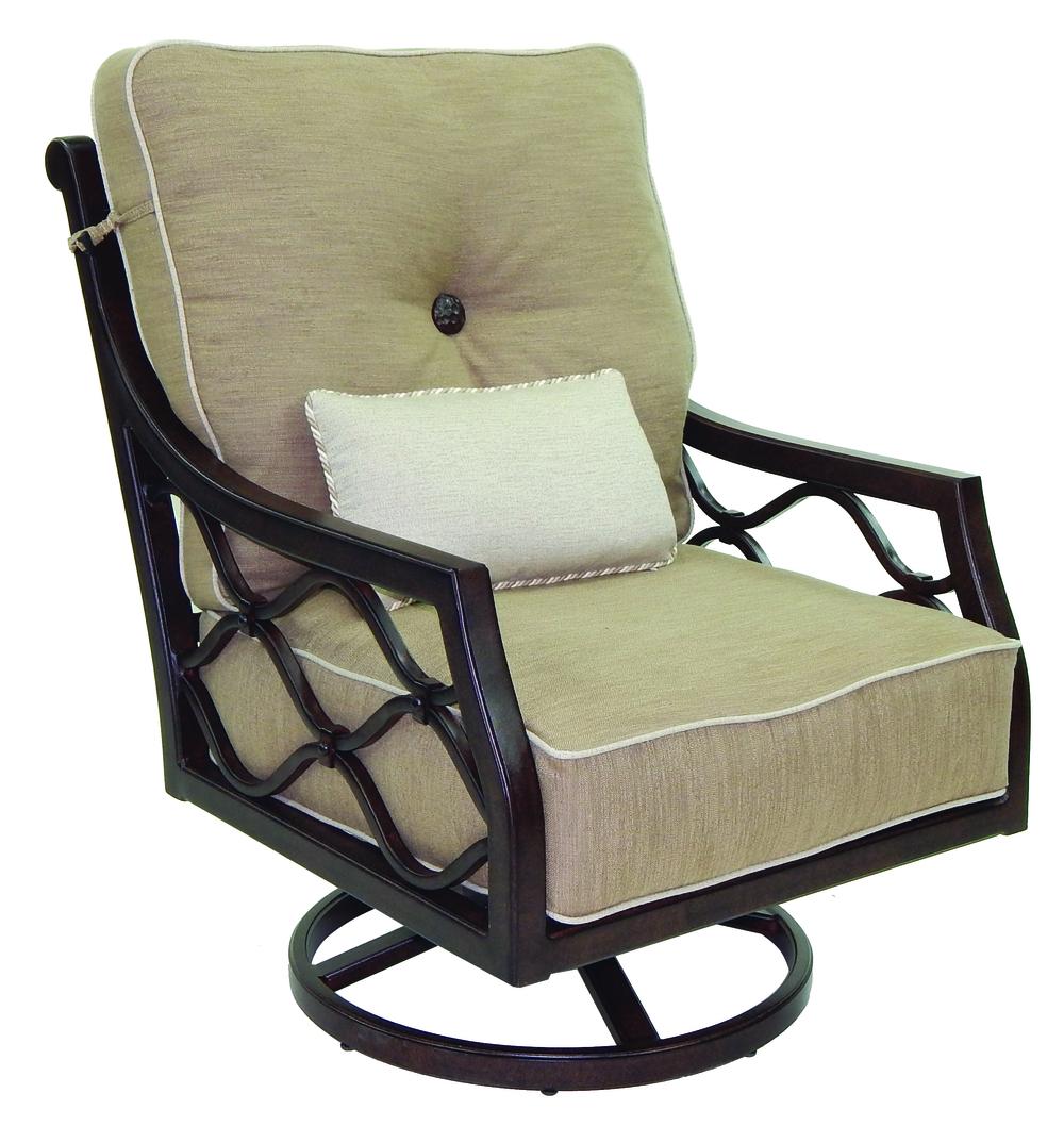 Castelle - High Back Cushion Lounge Swivel Rocker