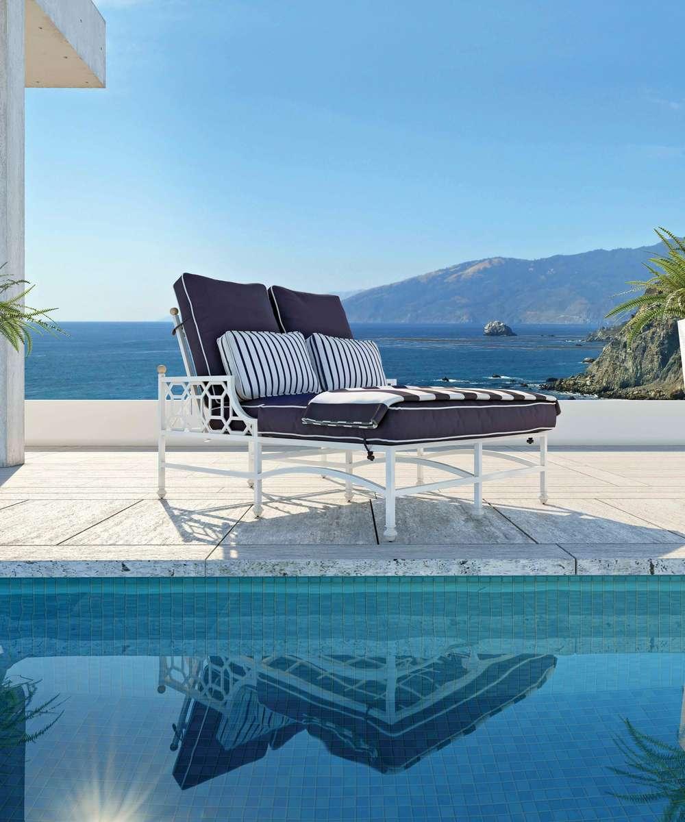 Castelle - Adjustable Cushion Double Chaise Lounge