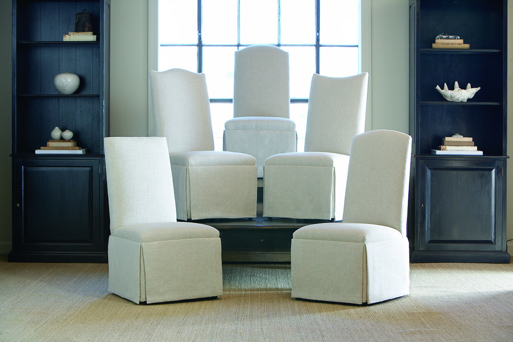 Century Furniture - Hollister Straight Back/Straight Top Chair with Casters