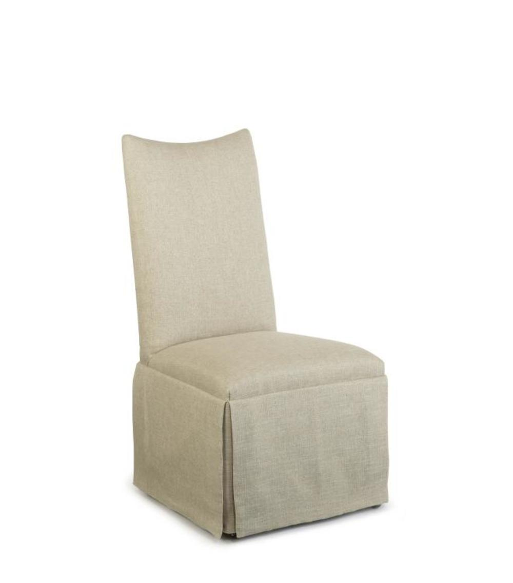 Century Furniture - Hollister Straight Back/Scoop Top Chair w/ Casters
