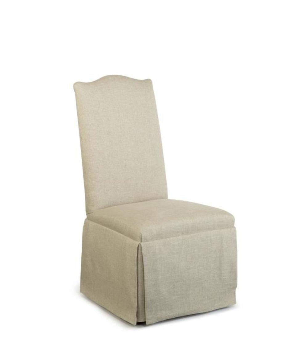 Century Furniture - Hollister Straight Back/Camelback Top Chair w/ Casters