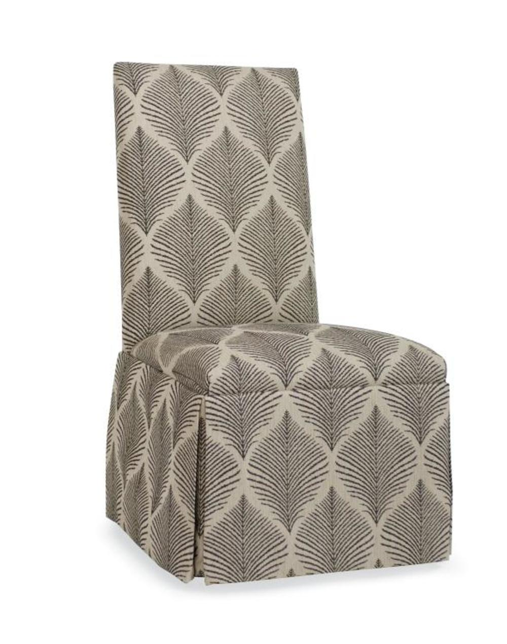 Century Furniture - Chandler Curved Back with Straight Top Chair with Casters