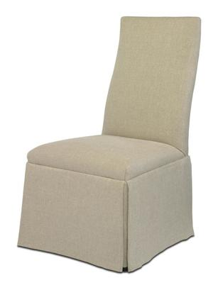 Thumbnail of Century Furniture - Chandler Curved Back with Straight Top Chair with Casters