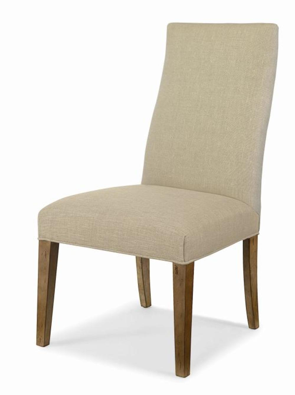 Century Furniture - Chandler Curved Back Exposed Wood w/ Straight Top