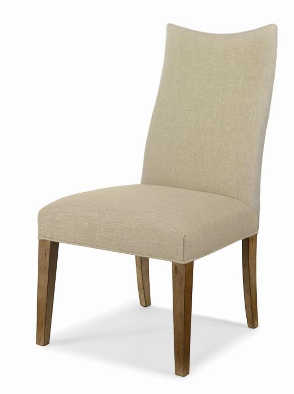 Century Furniture - Chandler Curved Back Exposed Wood w/ Scoop Top