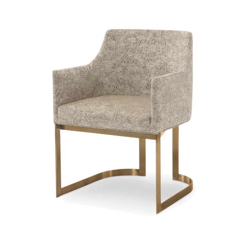 Century Furniture - Copenhagen Brass Arm Chair
