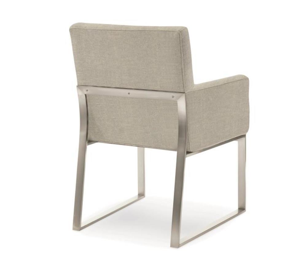 Century Furniture - Iris Stainless Arm Chair