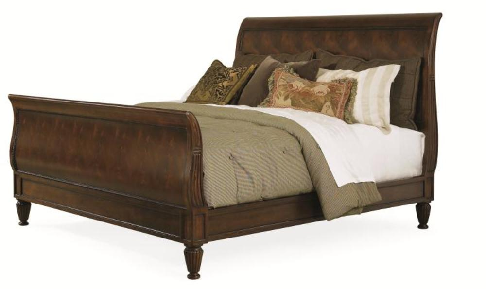 Century Furniture - Chelsea Club Westbourne Sleigh Bed, King