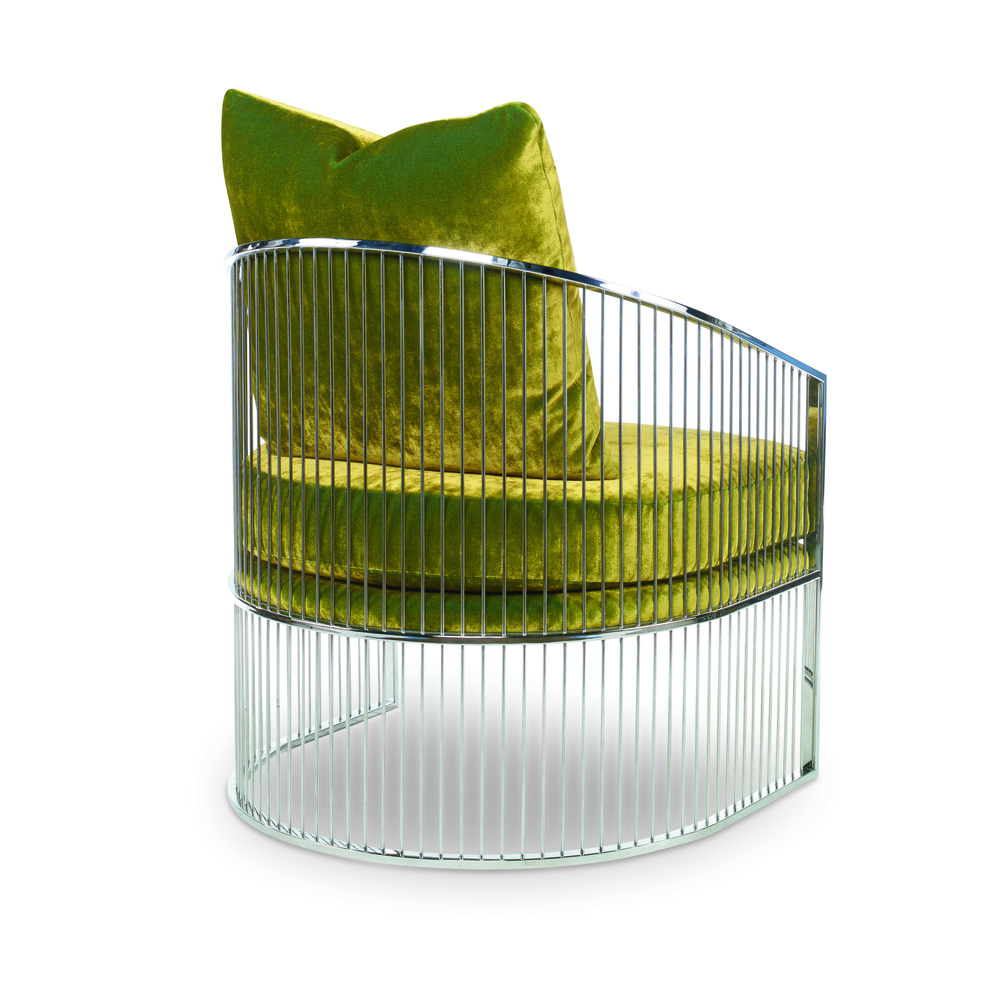 Century Furniture - Ruffalo Metal Barrel Chair