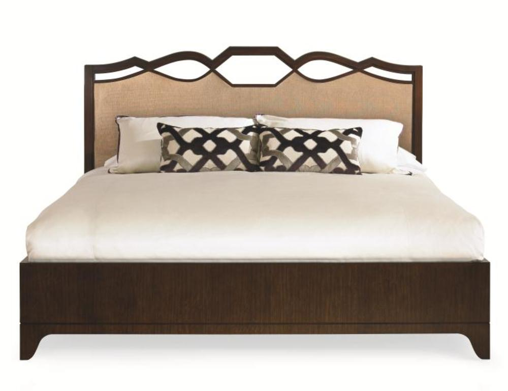 Century Furniture - Paragon Club Ogee Bed with Upholstered Headboard