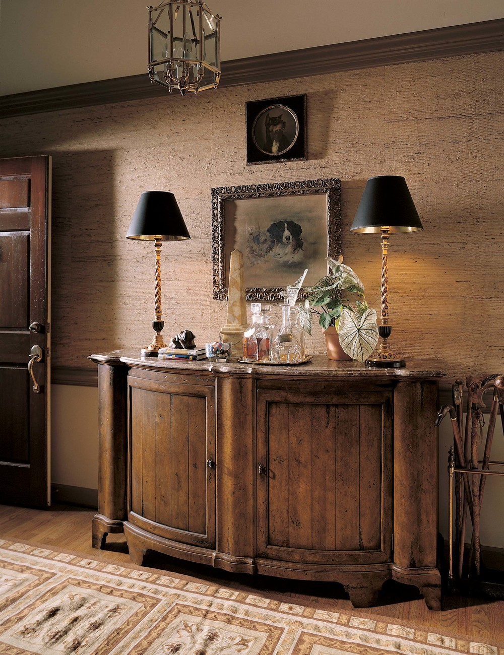 Century Furniture - Town and Country Somerset Credenza with Brown Marble Top