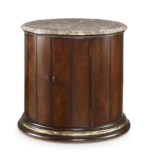 Thumbnail of Century Furniture - Town & Country Barrel Commode w/ Brown Marble Top