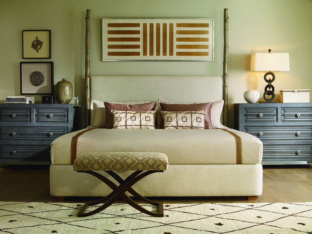 Century Furniture - Artefact Wildwood Upholstered Bed with Headposts
