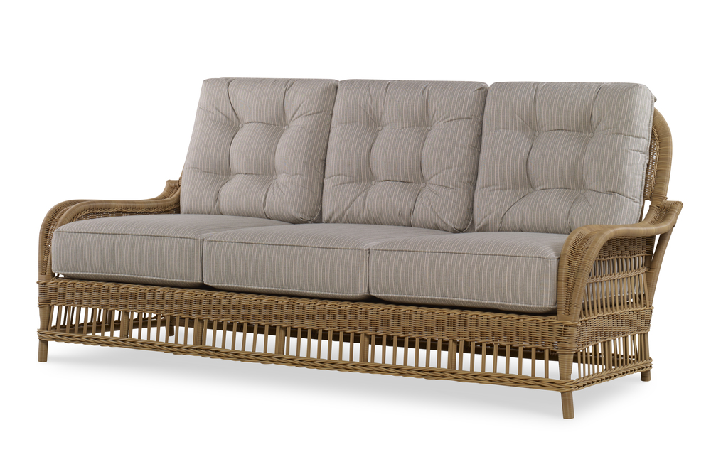 Century Furniture - Mainland Wicker Sofa w/ Buttons