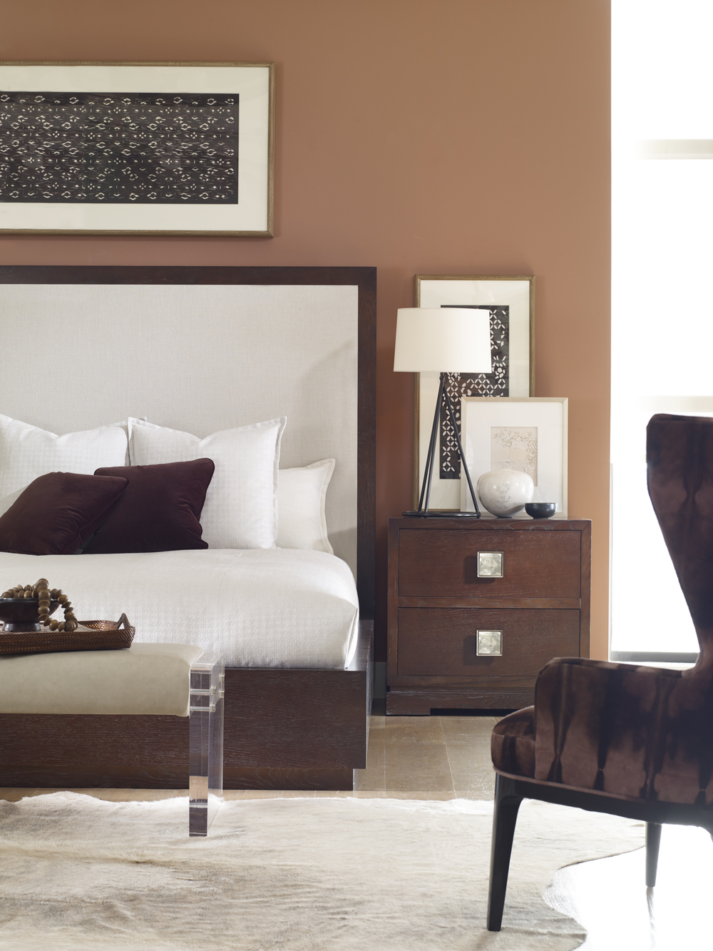 Century Furniture - Corso Bed with Upholstered Headboard