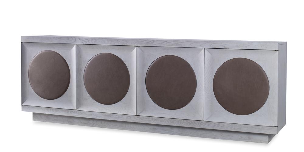 Century Furniture - Corso Credenza w/ Upholstered Door Trim