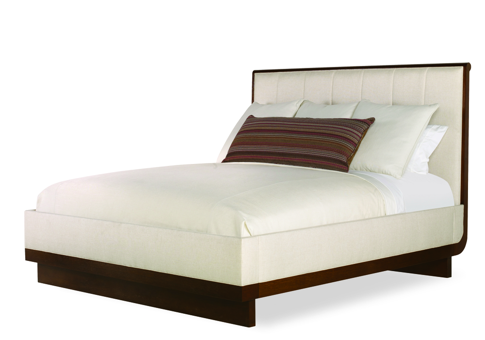 Century Furniture - Vienna Bed with Channel Upholstered Headboard