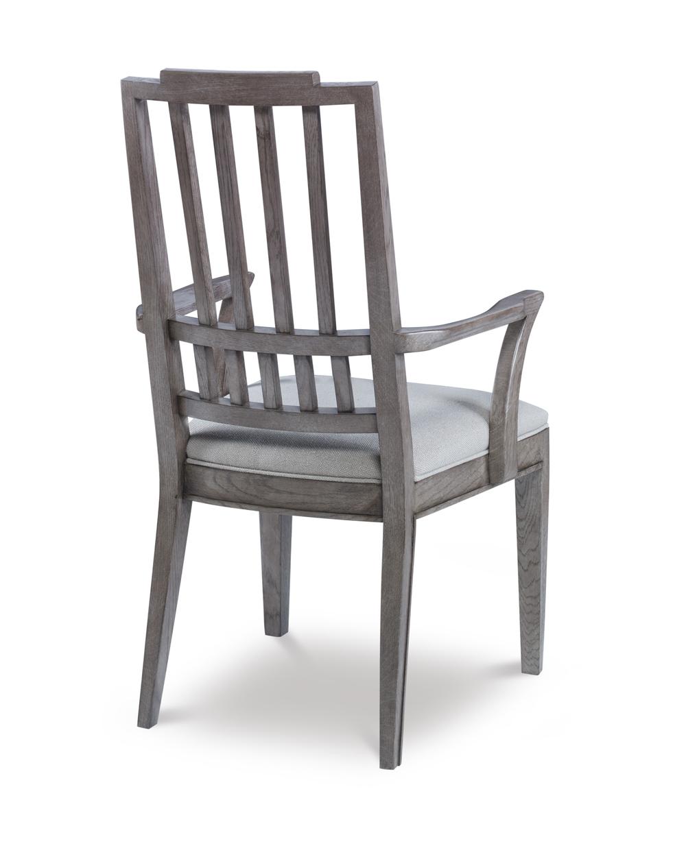 Century Furniture - Casa Bella Slat Back Dining Arm Chair