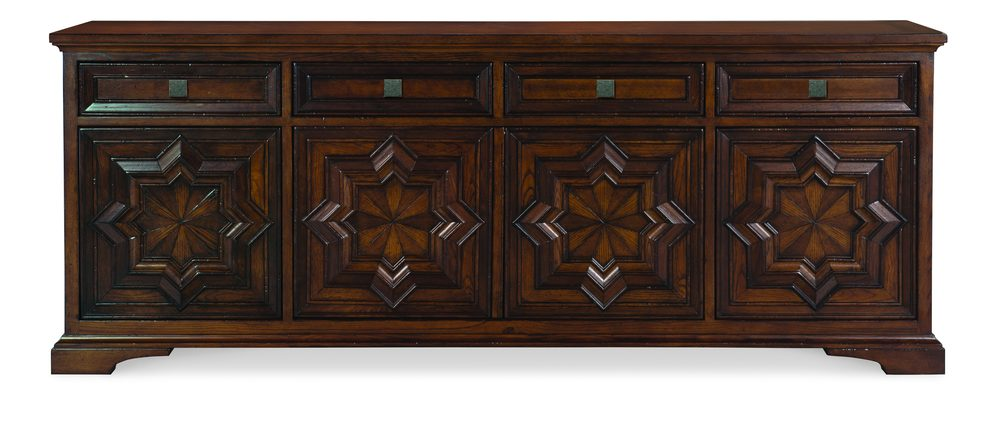 Century Furniture - Casa Bella Carved Credenza, Sierra