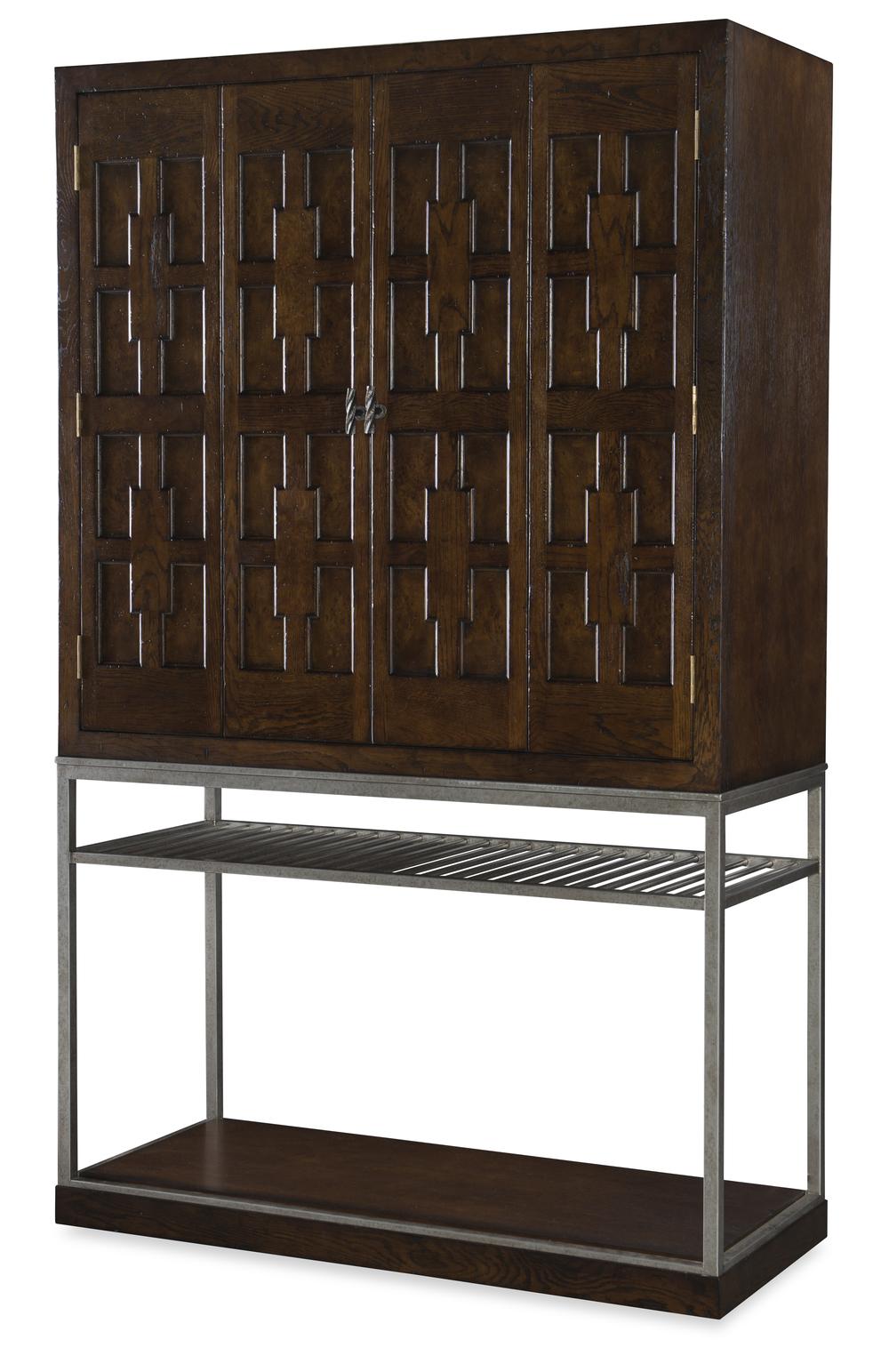 Century Furniture - Casa Bella Burl Bar Cabinet, Sierra
