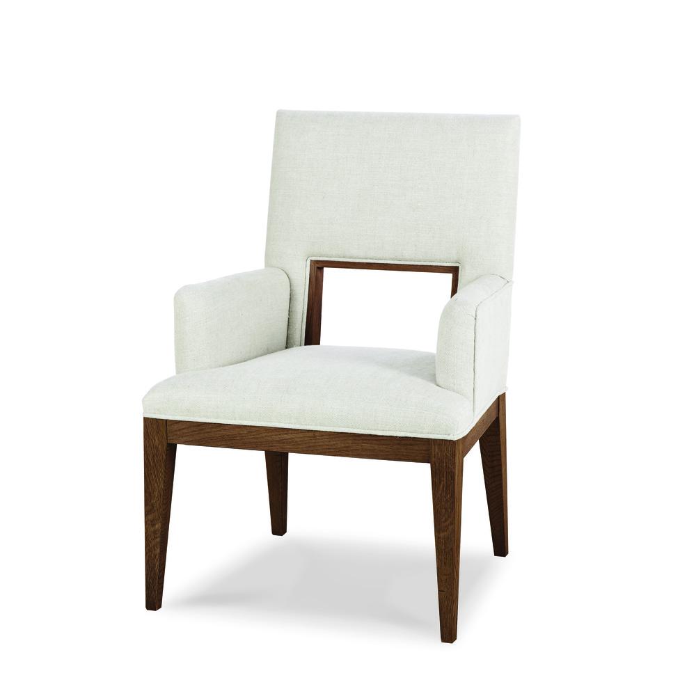 CENTURY FURNITURE - Casa Bella Upholstered Dining Arm Chair, Sierra
