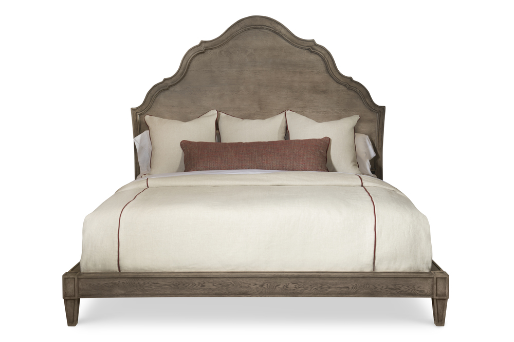 Century Furniture - Casa Bella Carved Bed, King, Timber Gray