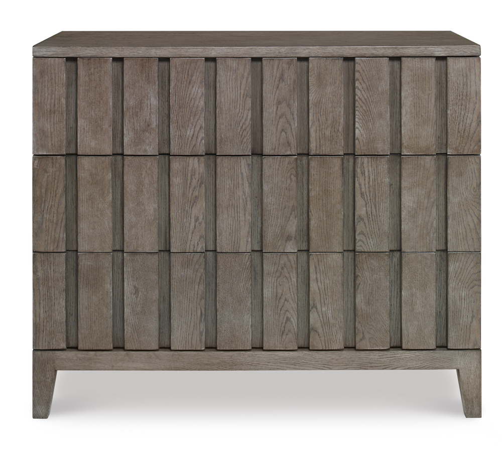 Century Furniture - Casa Bella Louvered Drawer Chest, Timber Gray