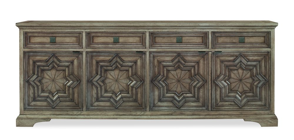 Century Furniture - Casa Bella Carved Credenza, Timber Gray