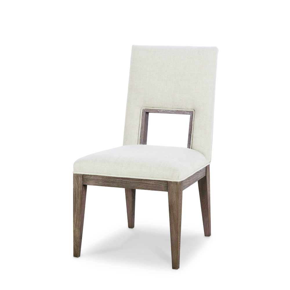 Century Furniture - Casa Bella Upholstered Dining Side Chair, Timber Gray