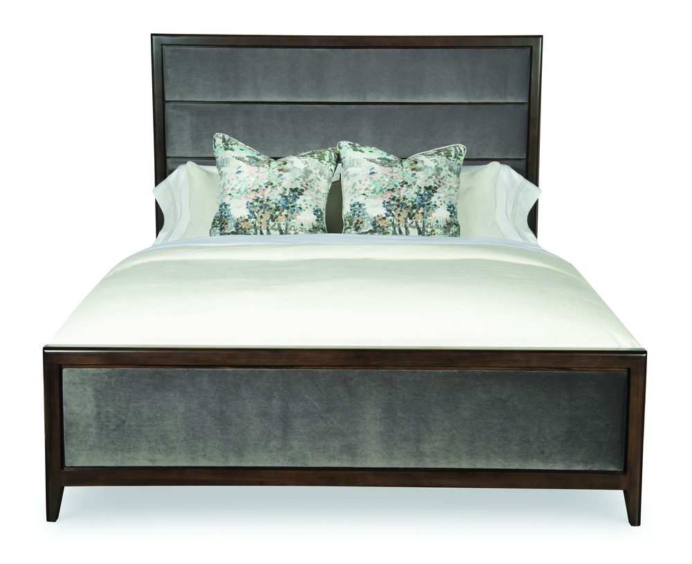 Century Furniture - Aria Bed with Upholstered Headboard and Footboard