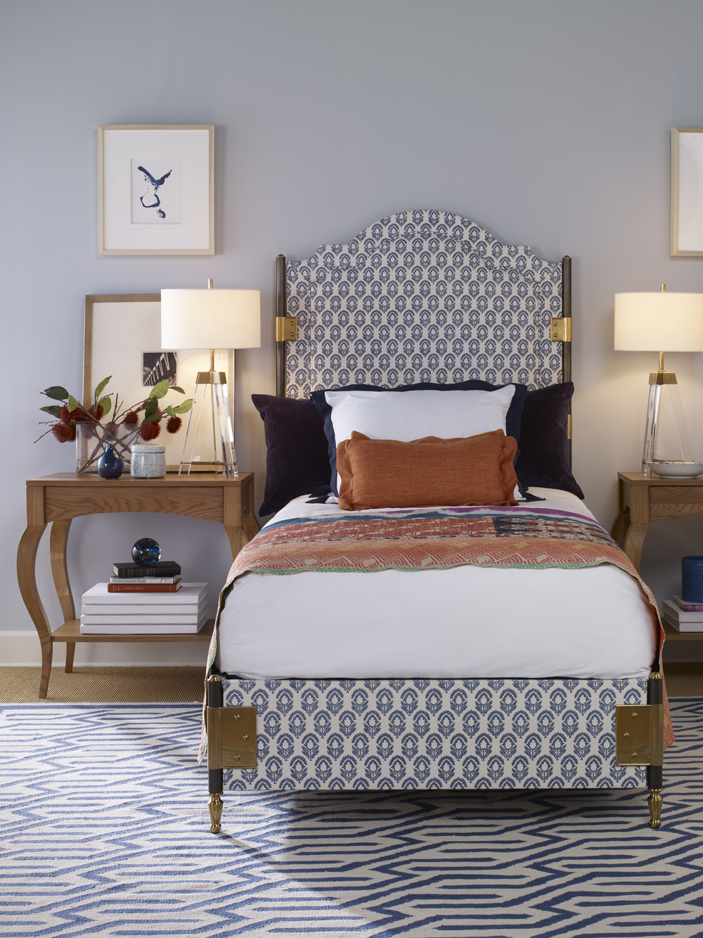 Century Furniture - Townsend Twin Upholstered Bed