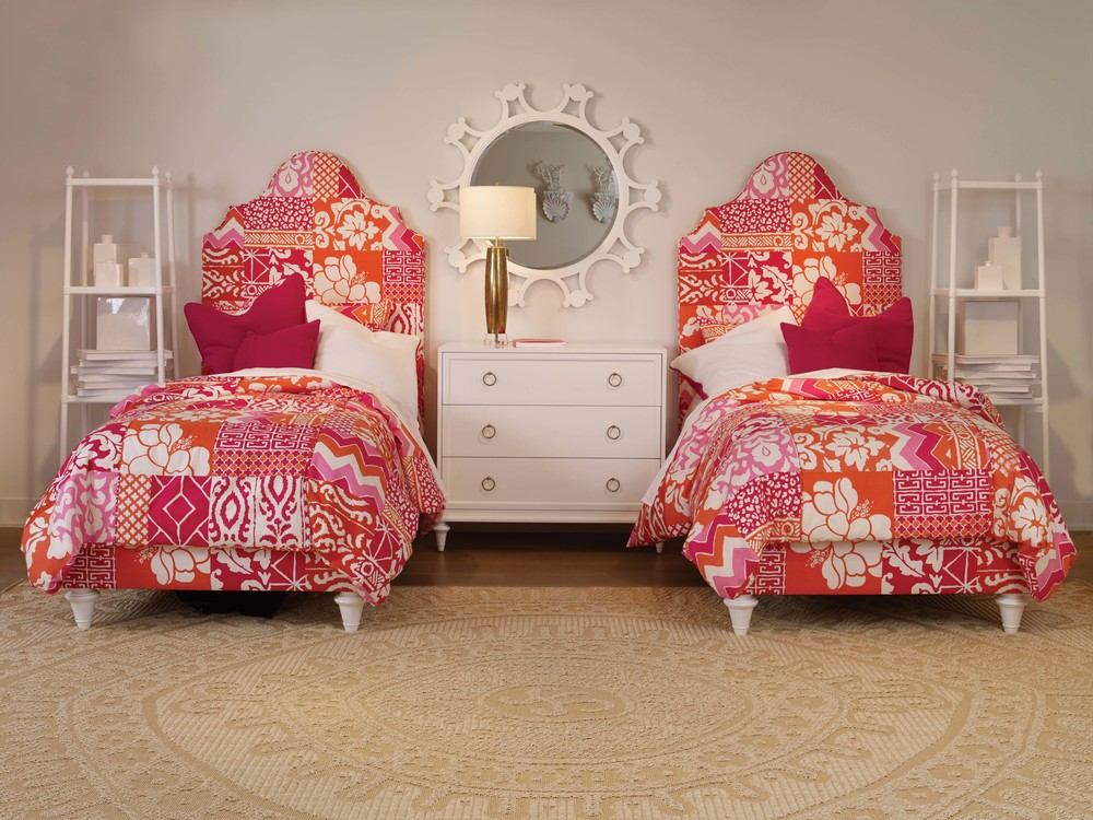 Century Furniture - Lafayette Fully Upholstered Bed, Twin