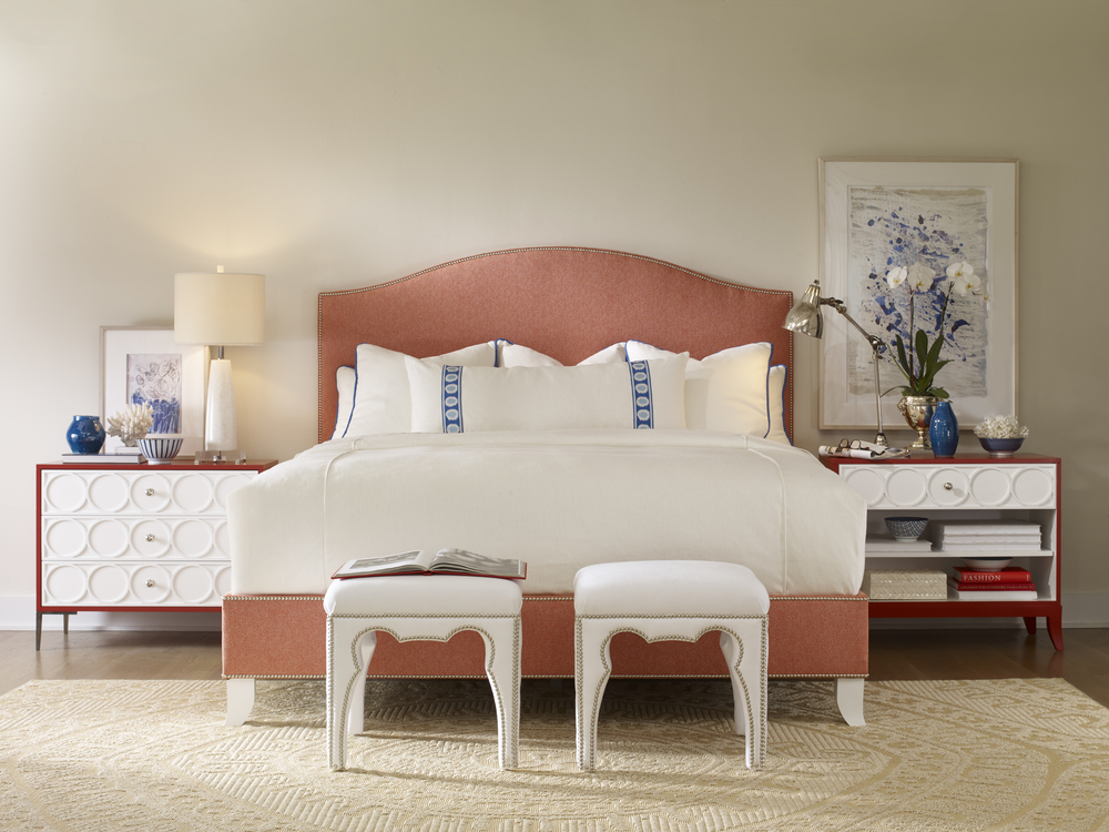 Century Furniture - Richmond Fully Upholstered Bed, Twin